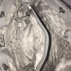 Gray Michael Kors purse